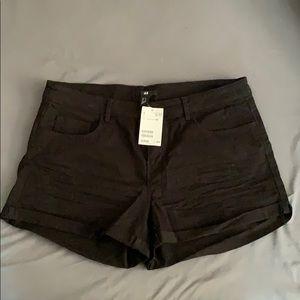 H&M Shorts - BRAND NEW H&M black jean shorts | Size 12